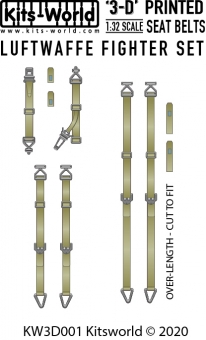 Kitsworld Kitsworld  - 1/32 Luftwaffe Fighter Seat Belt Set